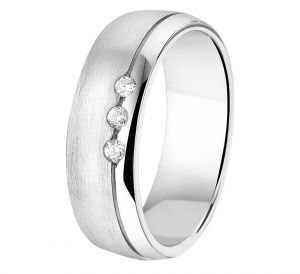 Fantasy collection Ring A206 - 6 mm - met cz - PSN1315511