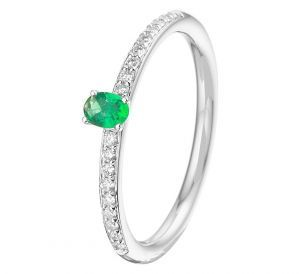 Fantasy collection Ring smaragd en diamant 0.12ct H SI - PSN4105464