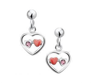 Oorhangers hart strass - PSN1017611