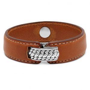 Buddha To Buddha armband 130BR Anggun Leather Brown