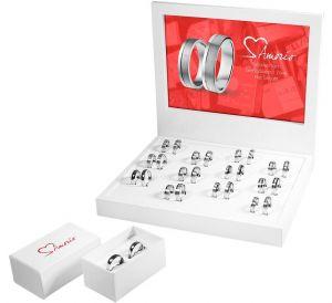 Zilveren Amorio relatieringen diamant - PSN1315611