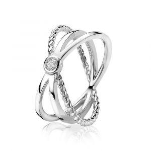ZINZI ring ZIR1448 - Zilver 925 - Zirkonia