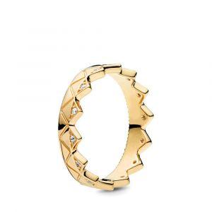 PANDORA Geometric Crown Ring 168033CZ