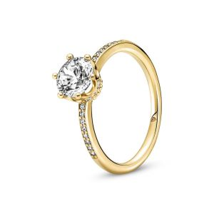 Pandora Transparante Sprankelende Kroon Solitaire Ring 168289C01