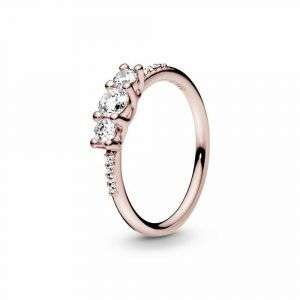 PANDORA Clear Three-Stone Ring 186242CZ