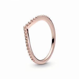 PANDORA Met Kralen Bezette Wishbone Ring 186315