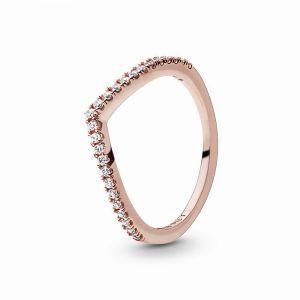 PANDORA Sparkling Wishbone Ring 186316CZ