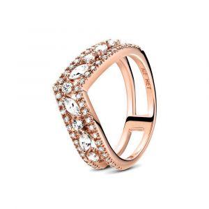 Pandora Sprankelende Marquise Dubbele Wishbone-ring 189095C01