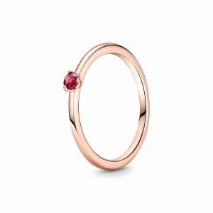 Pandora Rose ring met rode zirkonia 189259C01