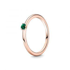 Pandora Rose ring met groen kristal 189259C05