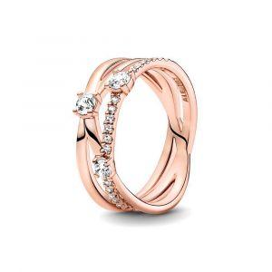 PANDORA Sparkling Triple Band Ring 189400C01
