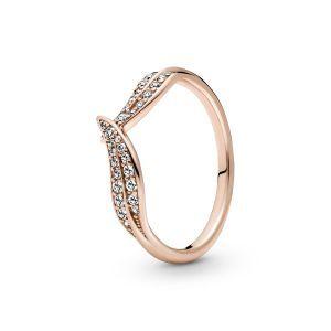 Pandora Sprankelende Rose Bladeren Ring 189533C01