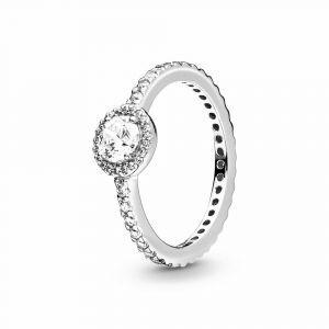 PANDORA Classic Sparkle Halo Ring 190946CZ