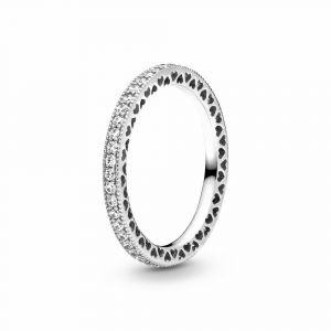 PANDORA Sparkle & Hearts Ring 190963CZ