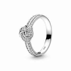 PANDORA Shimmering Knot Ring 190997CZ