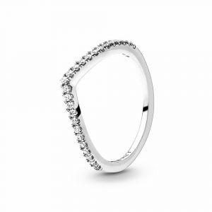 PANDORA Sparkling Wishbone Ring 196316CZ