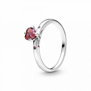 PANDORA Sparkling Red Heart Ring 196574CZRMX