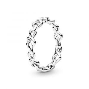 PANDORA Geknoopte Harten Ring 198018