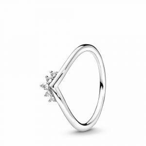 PANDORA Tiara Wishbone Ring 198282CZ