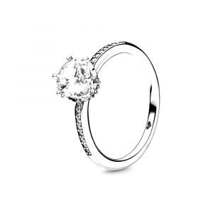 PANDORA Transparante Sprankelende Kroon Ring 198289CZ