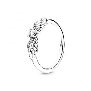 PANDORA Sparkling Angel Wings Ring 198500C01