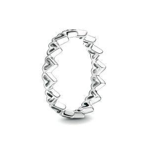 PANDORA Vrije Hand Harten Ring 198696C00
