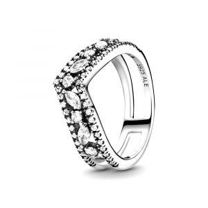 Pandora Wishbone sterling zilveren ring met zirkonia 199095C01