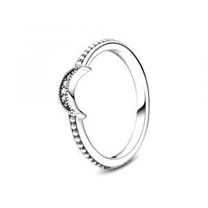 PANDORA Ring Sparkling Crescent Moon 199156C01