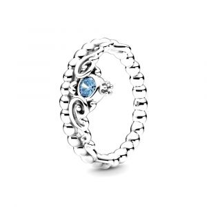 PANDORA Ring Disney Cinderella Blue Tiara 199191C01