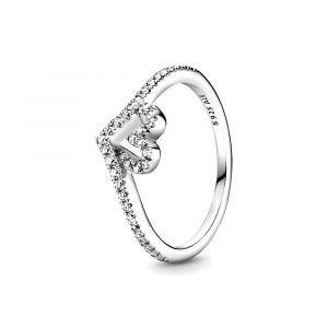 PandoraHeart and wishbone zilveren ring met zirkonia 199302C01