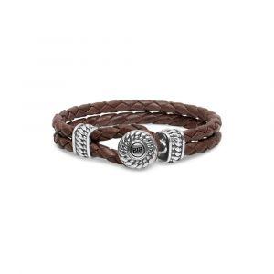 BUDDHA TO BUDDHA armband 220BR Ben Leather Knot Brown