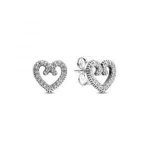 PANDORA Heart Swirl Oorknopjes 297099CZ