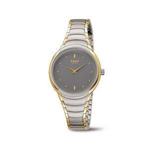 Boccia Titanium 3276-13 horloge - Staal - Zilver en goudkleurig - 32 mm