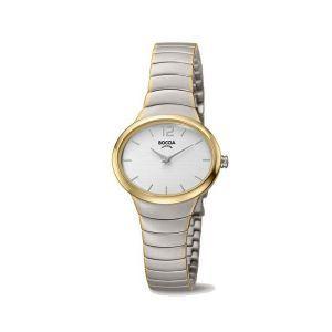 Boccia Titanium 3280-03 horloge - Titanium - Zilver en goudkleurig - 30 mm