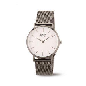 Boccia Titanium 3281-04 horloge - Staal - Grijs - 32 mm