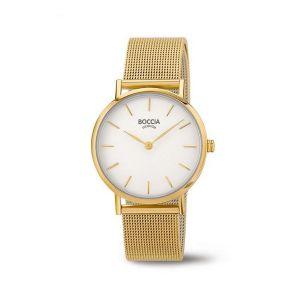 Boccia Titanium 3281-06 horloge - Staal - Goudkleurig - 32 mm