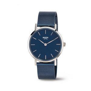 Boccia Titanium 3281-07 horloge - Staal - Blauw - 32 mm