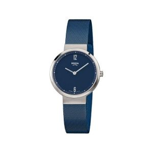 Boccia Titanium 3283-04 horloge - Titanium - Blauw - 30 mm