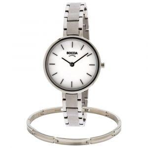 Boccia horloge 3286-01 - Titanium - Zilverkleurig - 30mm