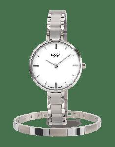 Boccia horloge 3286-03 - Titanium - Zilverkleurig - 30mm