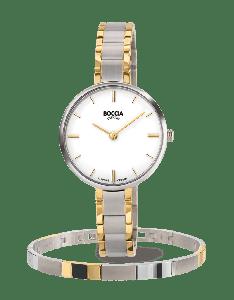 Boccia horloge 3286-04 - Titanium - Bicolor - 30mm