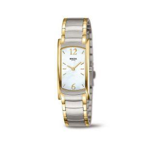 Boccia Titanium 3293-02 horloge - Titanium - Zilver en goudkleurig - 32 mm
