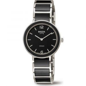 Boccia Titanium 3311-02 horloge - Keramiek - Zwart - 31 mm