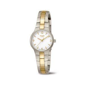 Boccia Titanium 3312-02 horloge - Titanium - Zilver en goudkleurig - 28 mm