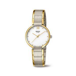 Boccia Titanium 3313-02 horloge - Titanium - Zilver en goudkleurig - 30 mm