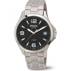 Boccia Titanium 3591-02 horloge - Titanium - Zilverkleurig - 45 mm