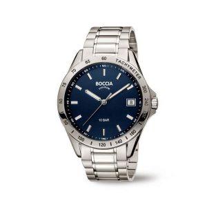 Boccia Titanium 3597-01 horloge - Titanium - Zilverkleurig - 40 mm