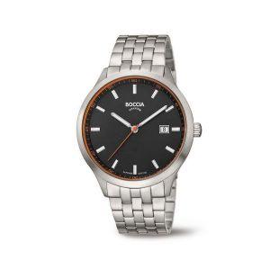 Boccia Titanium 3614-03 horloge - Titanium - Zilverkleurig - 41 mm