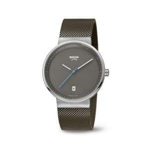 Boccia Titanium 3615-01 horloge - Staal - Grijs - 38 mm
