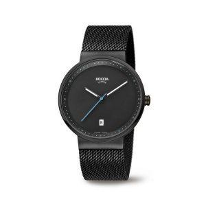 Boccia Titanium 3615-02 horloge - Staal - Zwart - 38 mm